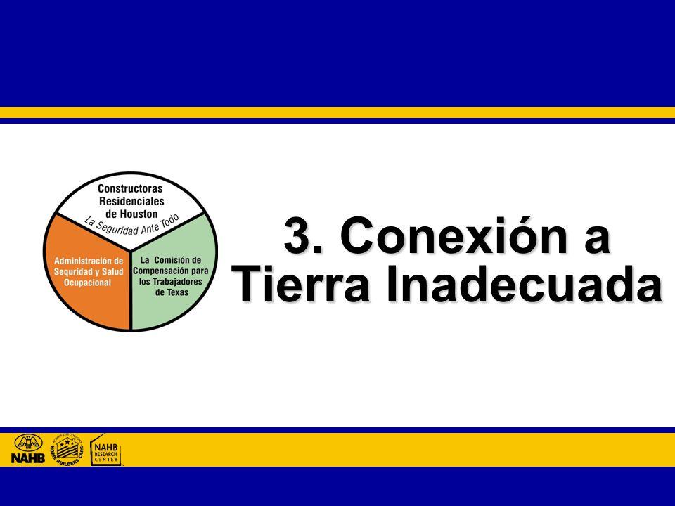 3. Conexión a Tierra Inadecuada