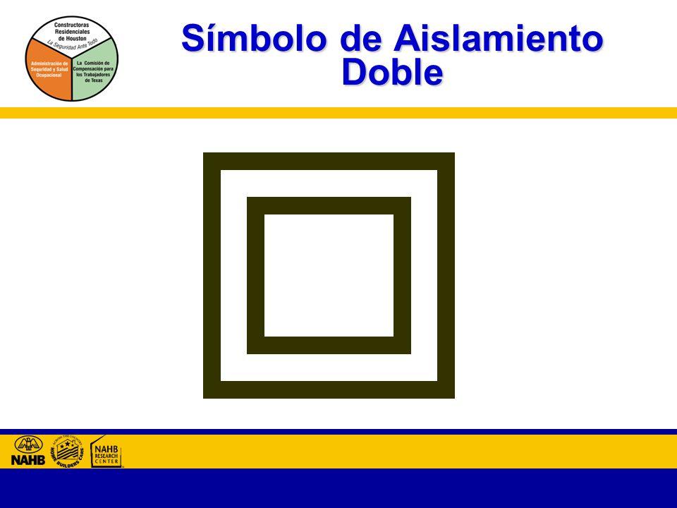 Símbolo de Aislamiento Doble
