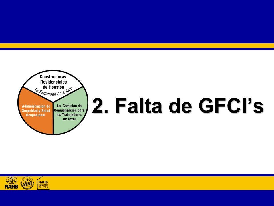 2. Falta de GFCIs
