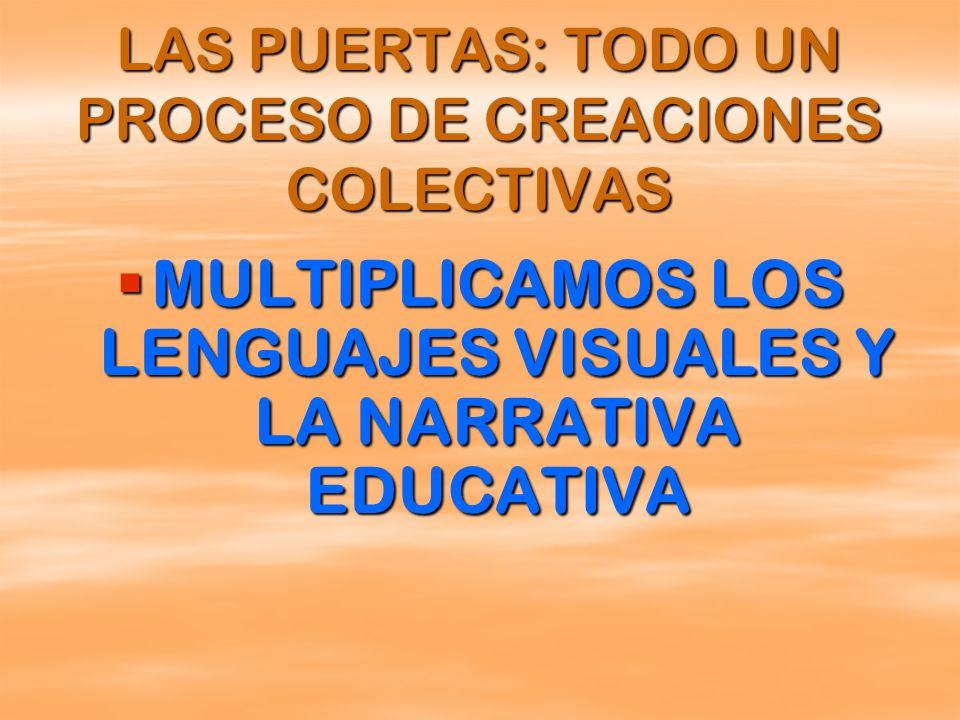 MULTIPLICAMOS LOS LENGUAJES VISUALES Y LA NARRATIVA EDUCATIVA MULTIPLICAMOS LOS LENGUAJES VISUALES Y LA NARRATIVA EDUCATIVA LAS PUERTAS: TODO UN PROCE