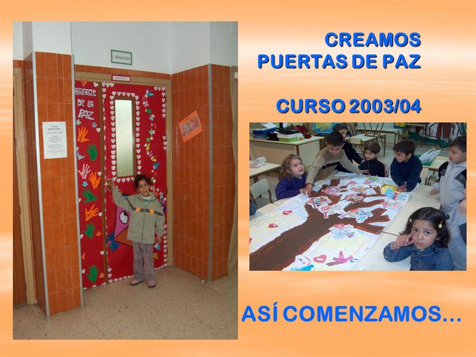 CREAMOS PUERTAS DE PAZ CURSO 2003/04 ASÍ COMENZAMOS…