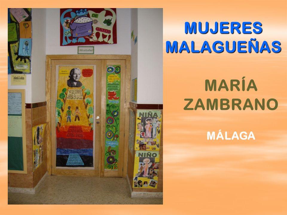MARÍA ZAMBRANO MÁLAGA MUJERES MALAGUEÑAS