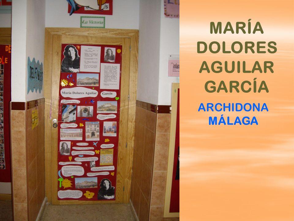 MARÍA DOLORES AGUILAR GARCÍA ARCHIDONA MÁLAGA