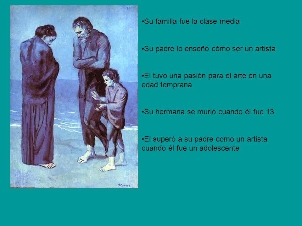 El fue enviado a Royal Academy of San Fernando Fue mejor escuela de bellas artes de España El admiró El Greco El viajó a París en 1900 El también admiró Diego Velázquez