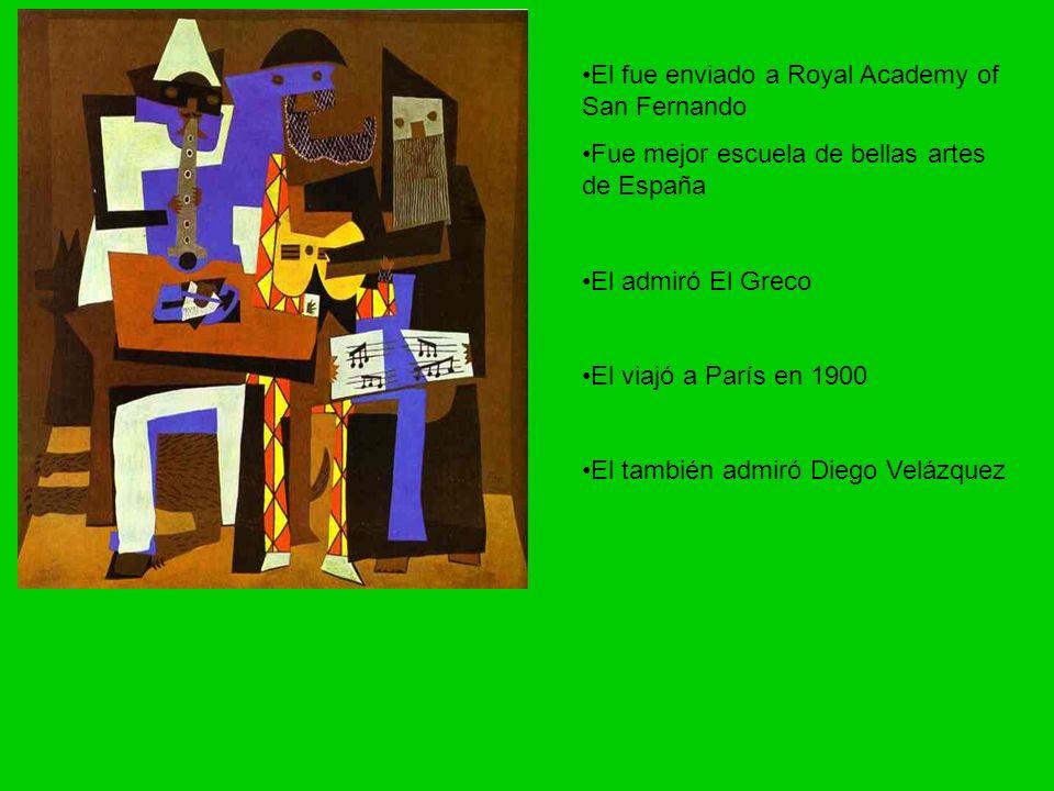 El encontró Max a Jacob en escuela de bellas artes Jacob ayudó Picasso aprende el idioma y su literatura El trabajó de noche y durmió durante el día El y un amigo fundó una revista llamado Arte Joven El puso los dibujos en la revista y comenzó a firmarlos como Picasso
