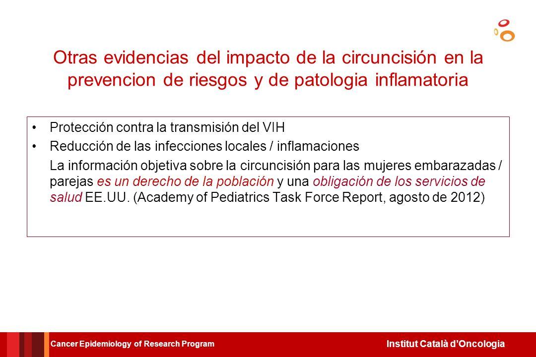 Institut Català dOncologia Circuncision y riesgo de cancer cervical en las esposas monogamas segun comportamiento sexual del varon