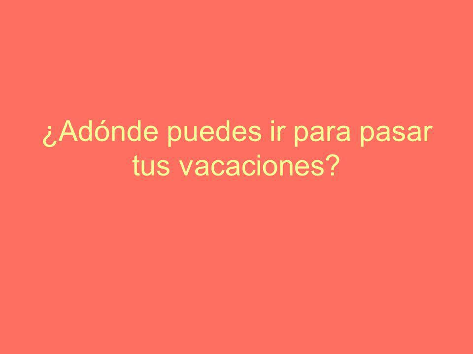 ¿Adónde puedes ir para pasar tus vacaciones?