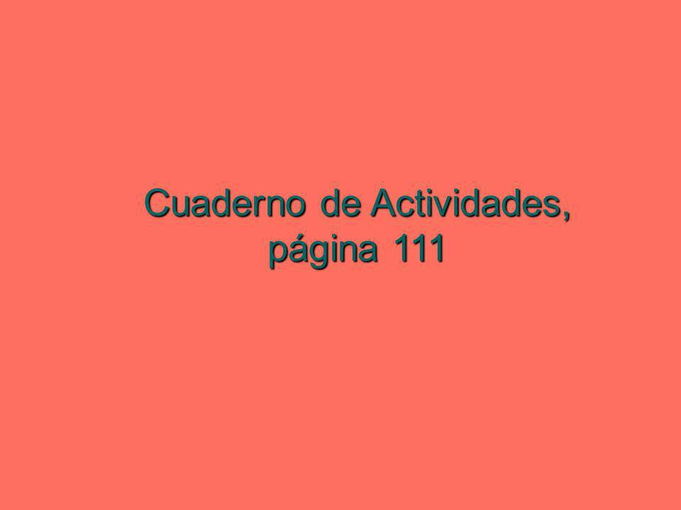 Cuaderno de Actividades, página 111