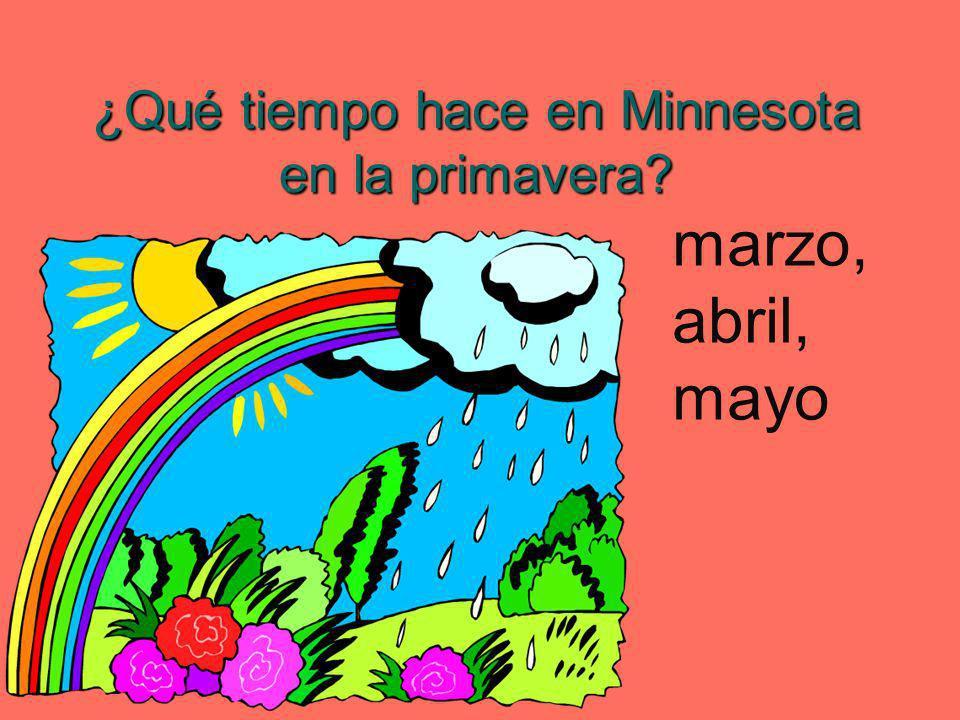 ¿Qué tiempo hace en Minnesota en la primavera? marzo, abril, mayo