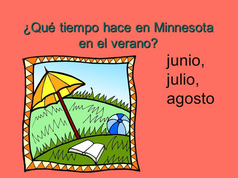 ¿Qué tiempo hace en Minnesota en el verano? junio, julio, agosto