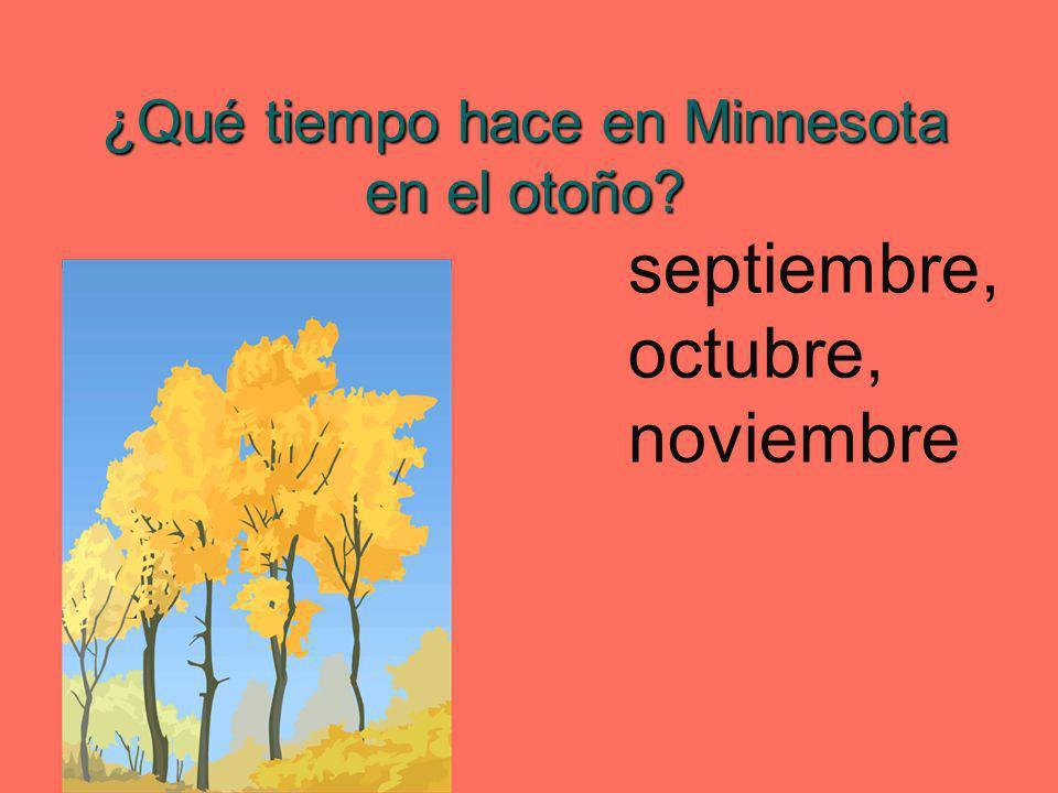 ¿Qué tiempo hace en Minnesota en el otoño? septiembre, octubre, noviembre