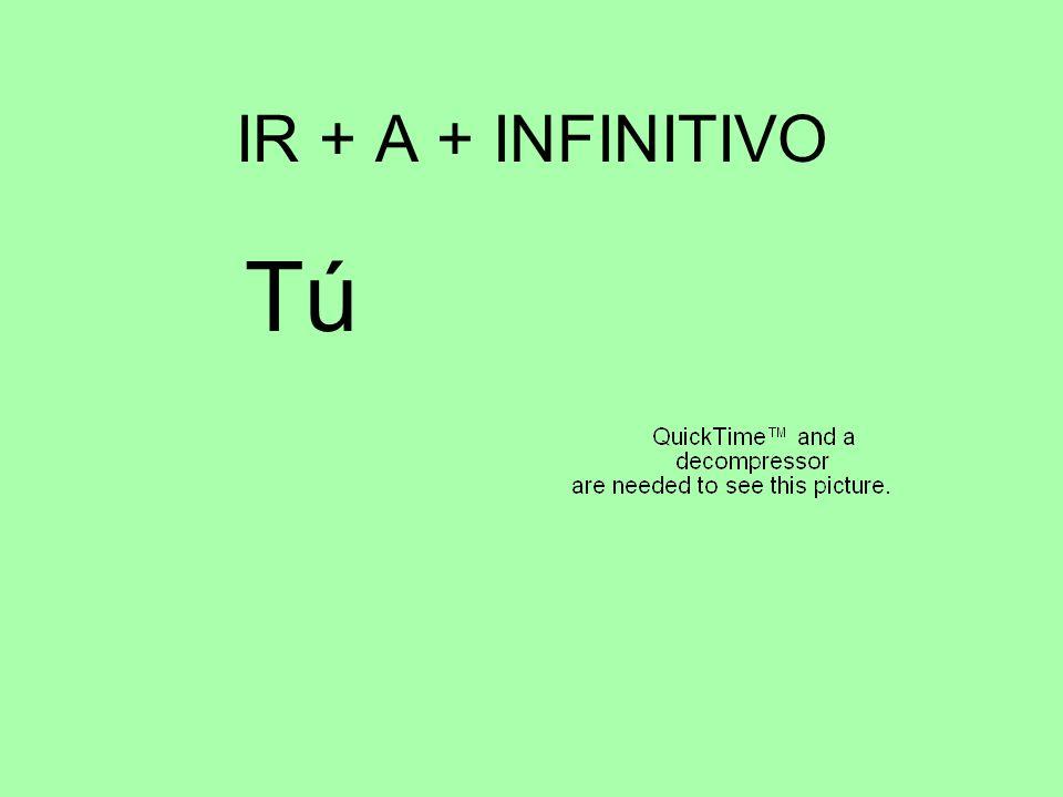 IR + A + INFINITIVO TúTú