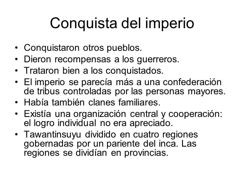 Organización social Inca (heredero de Manco Capac y representante del sol.