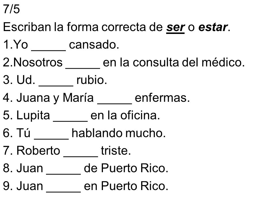 8/5 Answer the questions with complete sentences.1.¿Cómo eres.