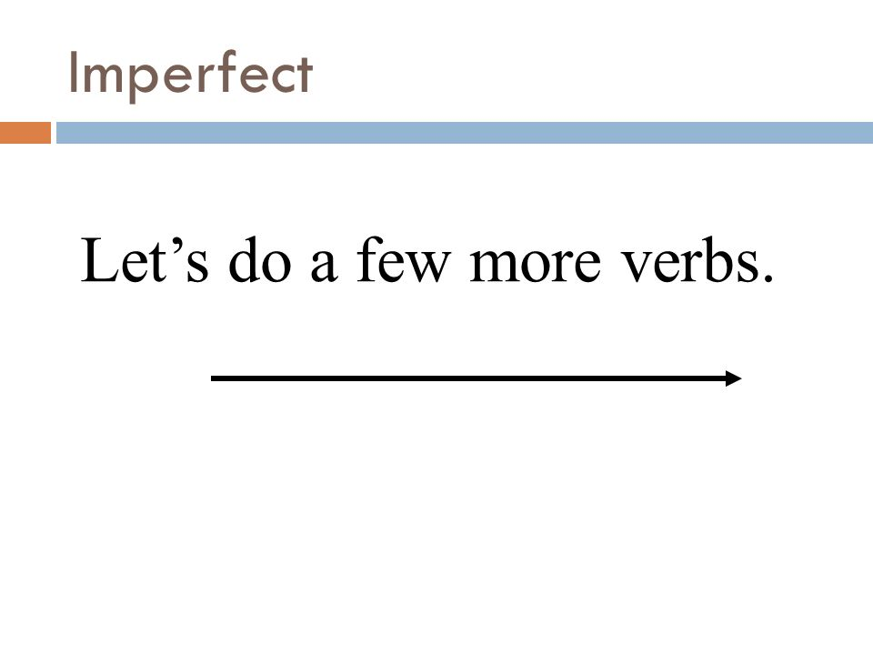 Since the yo and the Ud./él/ella forms are the same, we often use the subject pronouns to avoid confusion. Imperfect