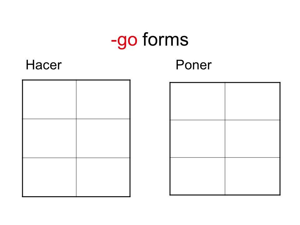 -go forms HacerPoner