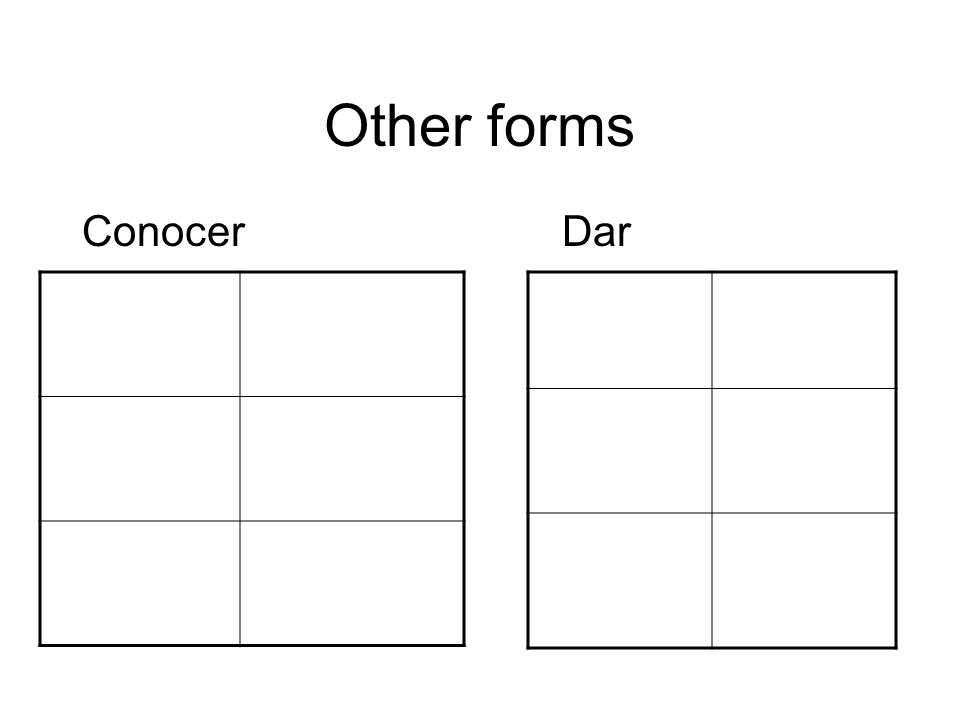 Other forms SaberVer *Ojo: ________________ *