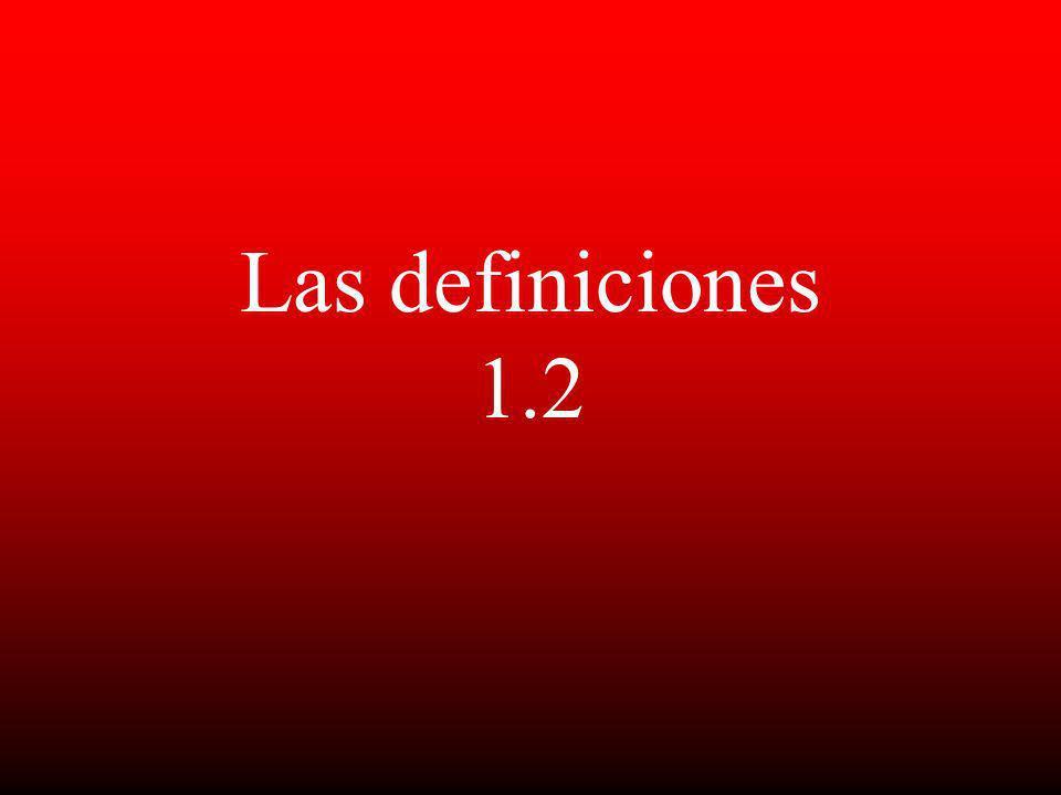 Las definiciones 1.2