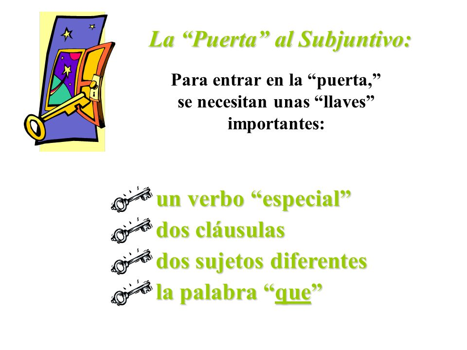 ¿Cuándo se usa el subjuntivo?