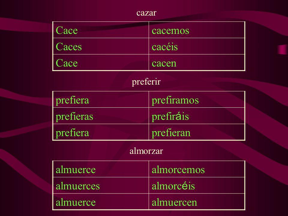 dormir DuermaDurmamos Duermas Durm á is DuermaDuerman What are the 6 irregular verbs in the subjunctive and their conjugations.