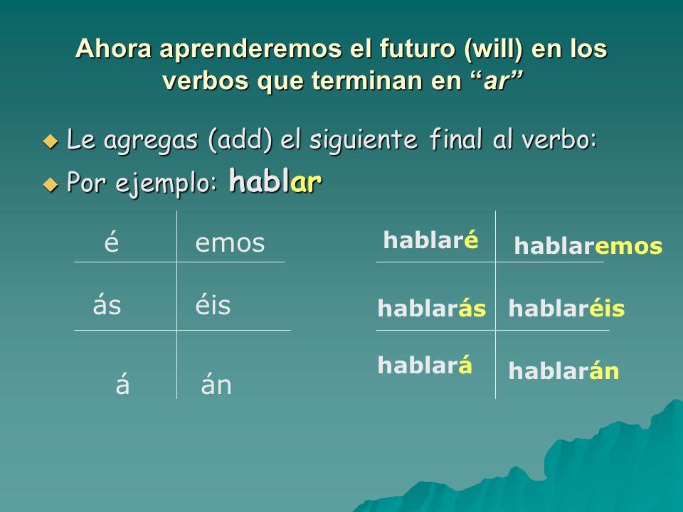 Ya aprendimos el futuro con el verbo ir + a + infinitivo. Vamos a estudiar en la biblioteca. Vamos a estudiar en la biblioteca. Mañana, voy a escalar
