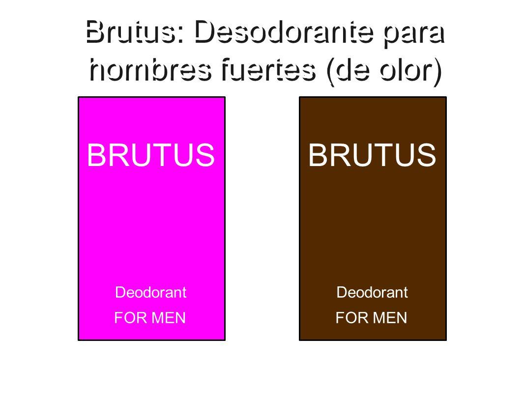 Brutus: Desodorante para hombres fuertes (de olor) BRUTUS Deodorant FOR MEN BRUTUS Deodorant FOR MEN