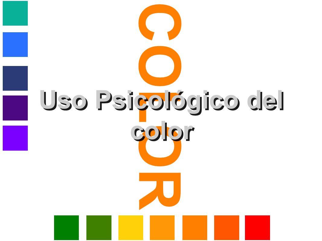 COLOR Uso Psicológico del color
