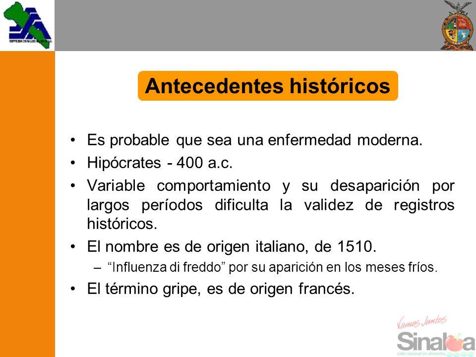 Es probable que sea una enfermedad moderna. Hipócrates - 400 a.c. Variable comportamiento y su desaparición por largos períodos dificulta la validez d
