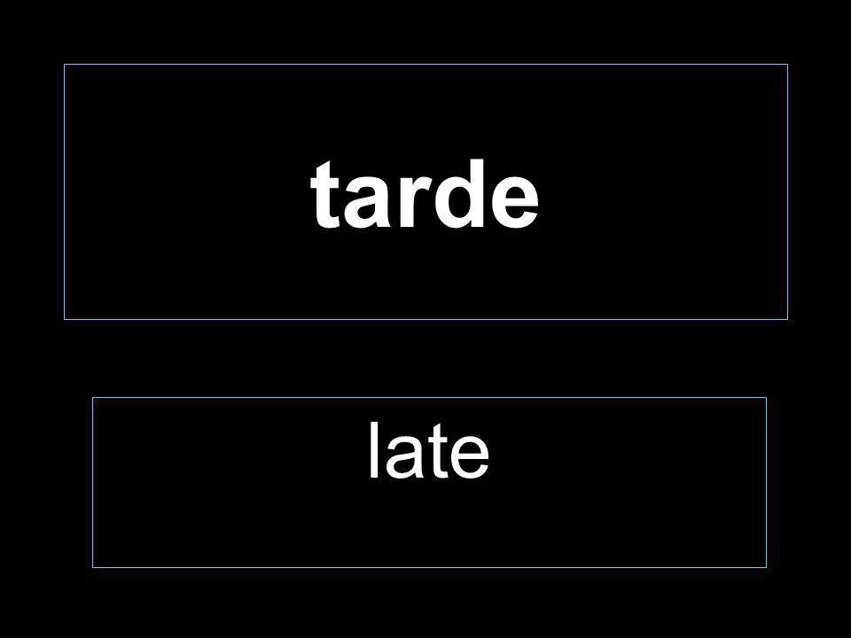tarde late