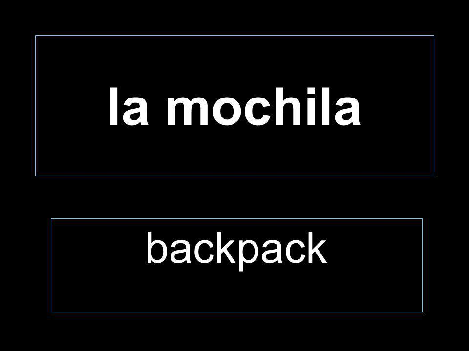 la mochila backpack