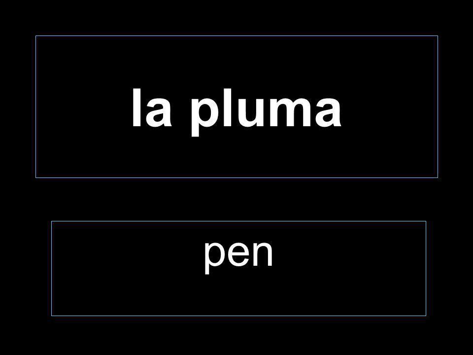 la pluma pen