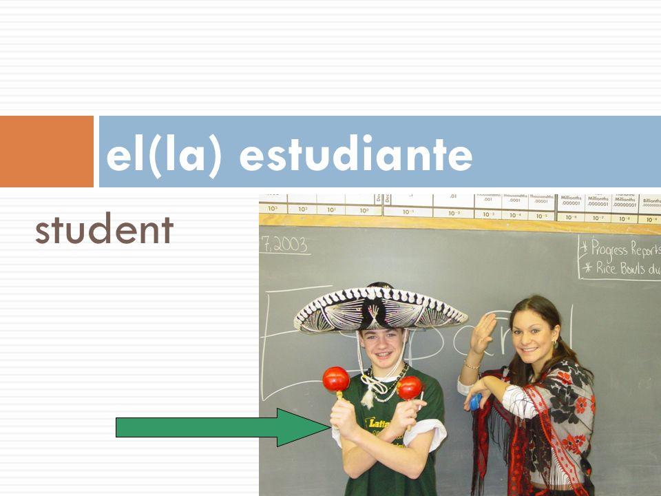 student el(la) estudiante
