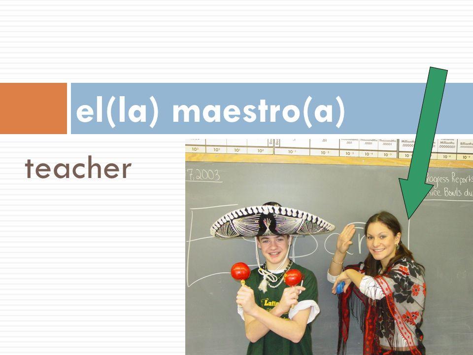 teacher el(la) maestro(a)