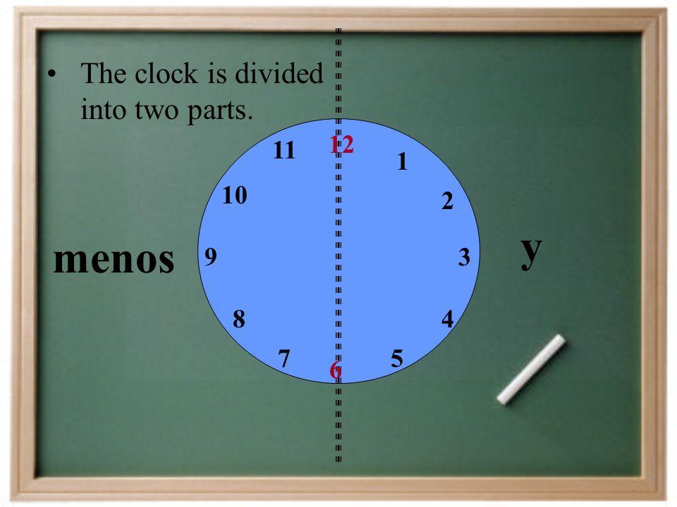 on the dot en punto= midnight medianoche= midday / noon mediodía= p.m. a.m. = = de la tarde / de la noche de la mañana
