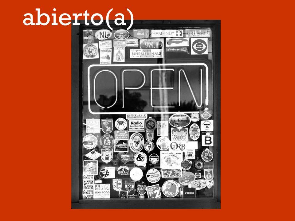 abierto(a)