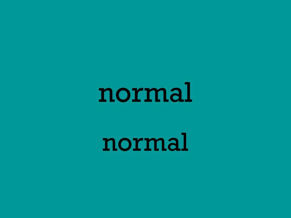 normal normal