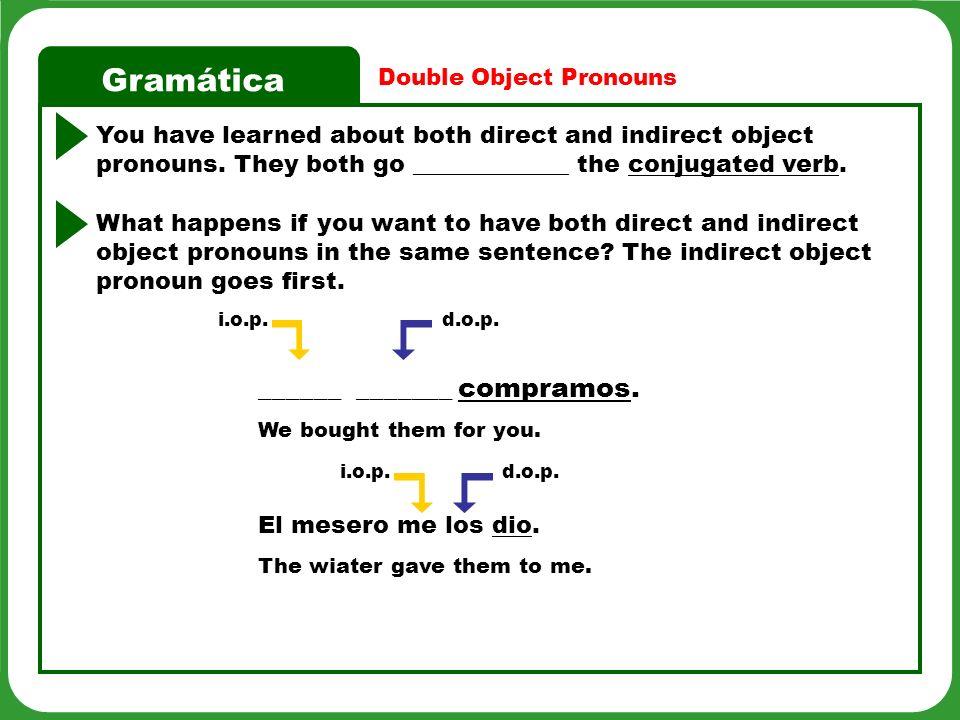 Gramática Estás ____________________.d.o.p.