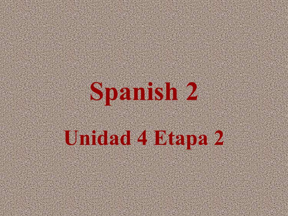 Spanish 2 Unidad 4 Etapa 2