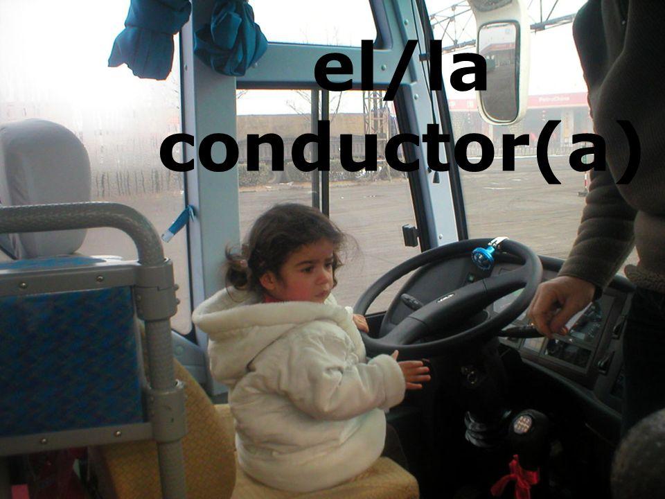 el/la conductor(a)