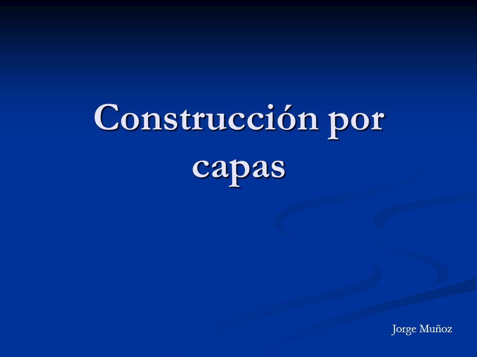 Construcción por capas Jorge Muñoz