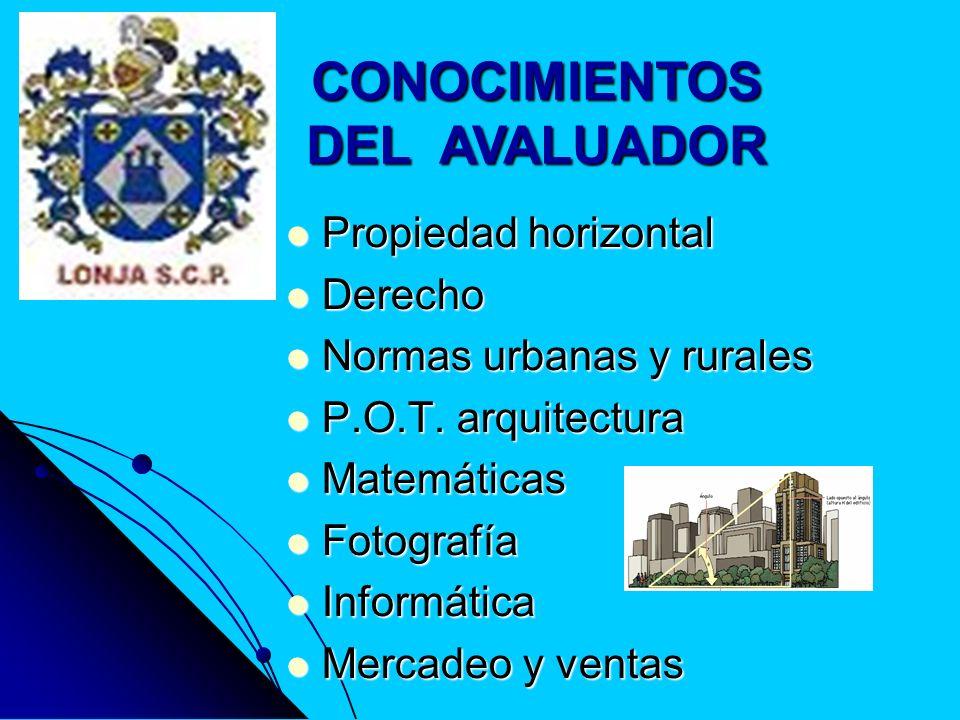 REQUISITOS, PARÁMETROS O CUALIDADES DE LOS AVALUADORES ANTE LA SUPERINTENDENCIA DE INDUSTRIA Y COMERCIO 1.- Título profesional.