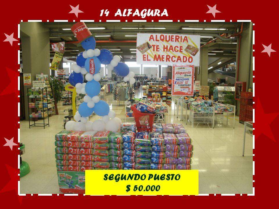 14 ALFAGURA SEGUNDO PUESTO $ 50.000