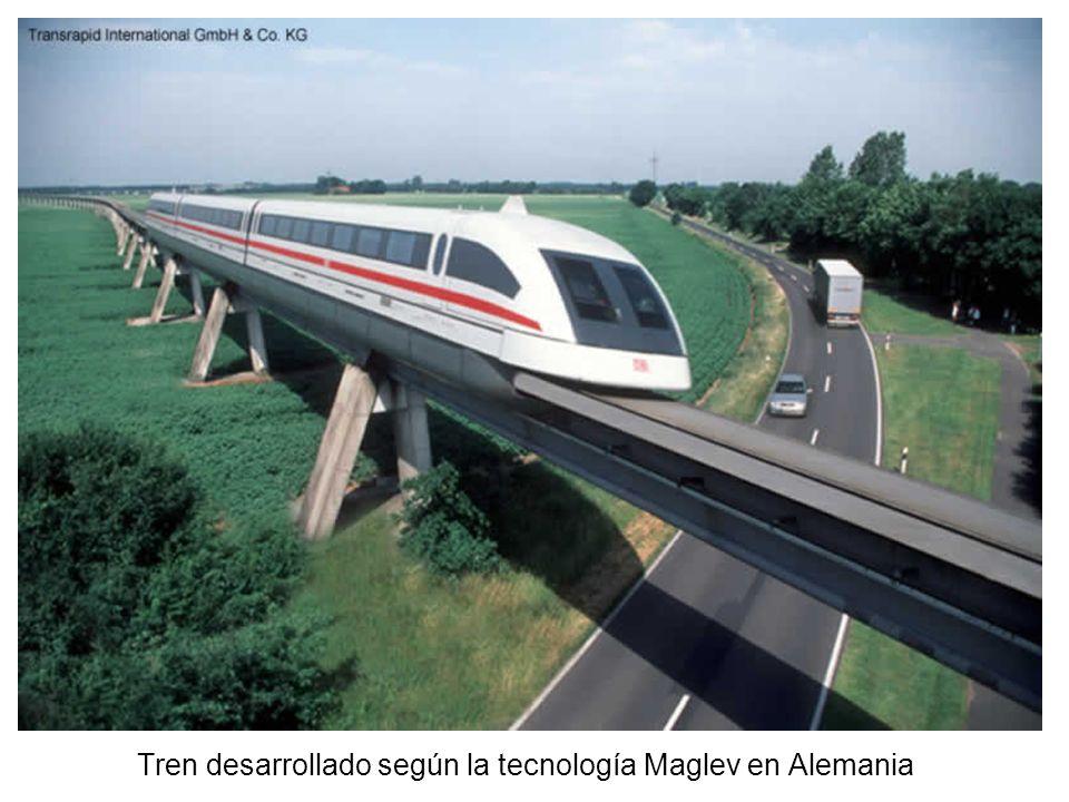 Tren desarrollado según la tecnología Maglev en Alemania