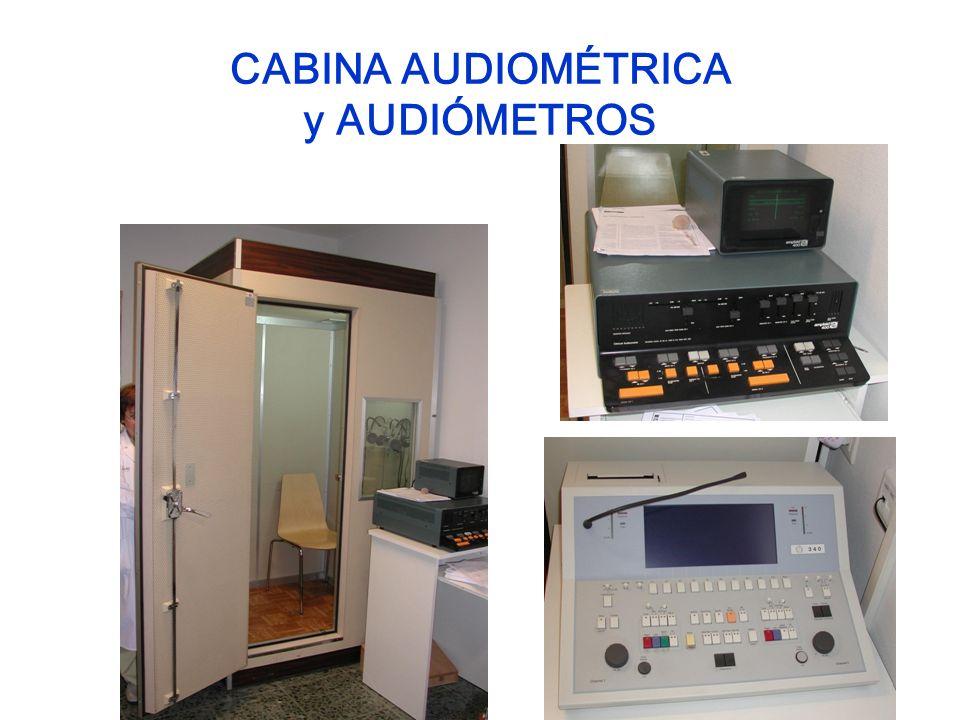 CABINA AUDIOMÉTRICA y AUDIÓMETROS