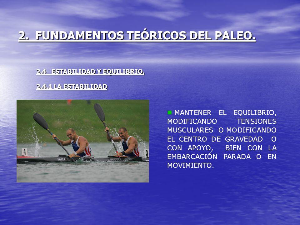 2. FUNDAMENTOS TEÓRICOS DEL PALEO. 2.4 ESTABILIDAD Y EQUILIBRIO. 2.4.1 LA ESTABILIDAD MANTENER EL EQUILIBRIO, MODIFICANDO TENSIONES MUSCULARES O MODIF
