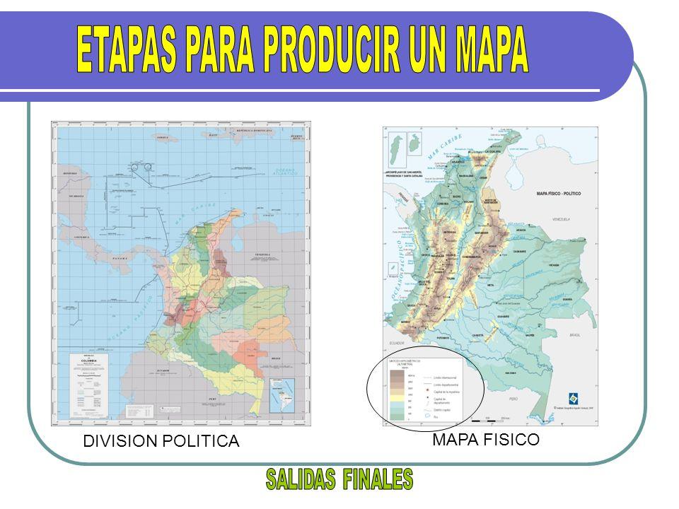 DIVISION POLITICA MAPA FISICO