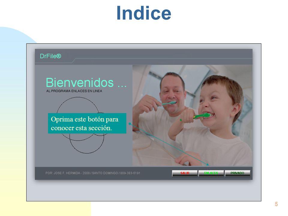Introducción n Enlaces: Permite al usuario el contacto directo con centros de información y compras en línea.