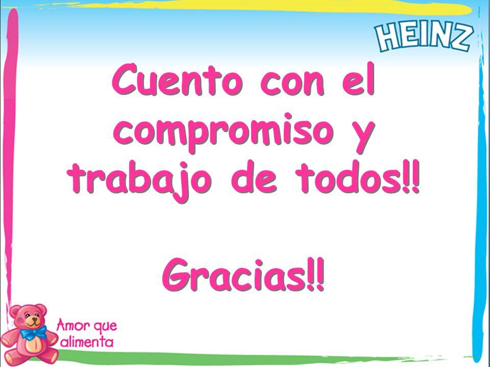 Cuento con el compromiso y trabajo de todos!! Gracias!! Cuento con el compromiso y trabajo de todos!! Gracias!!