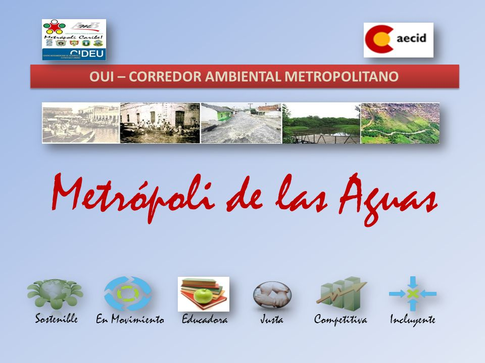 Metrópoli de las Aguas Sostenible En MovimientoEducadoraIncluyenteJustaCompetitiva OUI – CORREDOR AMBIENTAL METROPOLITANO