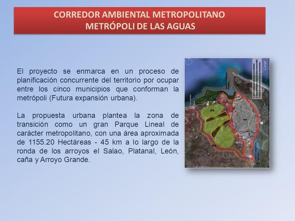 CORREDOR AMBIENTAL METROPOLITANO METRÓPOLI DE LAS AGUAS CORREDOR AMBIENTAL METROPOLITANO METRÓPOLI DE LAS AGUAS El proyecto se enmarca en un proceso d